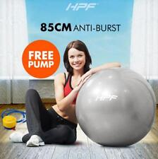 85cm Gym Exercise Ball Yoga Pilates Swiss Fitness Workout Grey Foot Pump 125kg