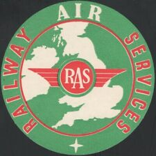 GREAT BRITAIN, 1938. Railway Air Service. Luggage Label