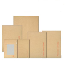 Boarded Envelopes Manilla Board Hard Back Backed Please Do Not Bend Peel Seal