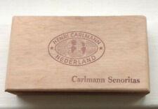 Henri Carlmann Senoritas wooden Cigar box Nederland Netherlands empty