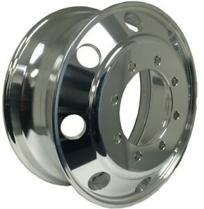 """19.5x7.5"""" Aluminum Truck Wheel Rims Alcoa Style 8x275 Polished Outside Fit Front"""
