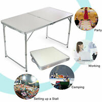 4FT Folding Camping Table Aluminium Picnic Adjustable Party Outdoor Lightweight