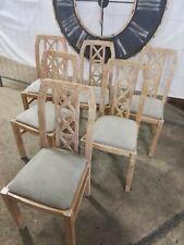 Stuhl White Pine Weise Pinie Massiv Vintage Shabby Chic Küchenstuhl Polsterstuhl