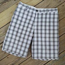 Men's Dockers Plaid Checked Bermuda Shorts Size 34