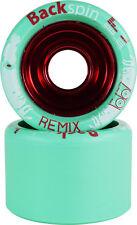Backspin Remix Roller Skate Wheels - Aluminum Hub Grippy Fast for Skates
