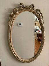Oval Wall Mirror With Ribbons