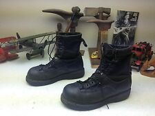 STEEL TOE MATTERHORN MADE IN USA BLACK LEATHER MILITARY LACE UP JUMP BOOTS 6 W