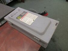 Square DNon-Fusible Safety Switch HU361 30A 600V Used