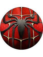 """Personalizzata MARVEL HEROES SPIDER-MAN commestibili CAKE TOPPER 7.5 """"glassa Rotondo"""