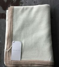 Alicia Adams 100% Baby Alpaca Knit Throw - Cream and Taupe – Ret. $495 – New