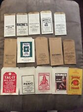 VINTAGE CHEWING TOBACCO BAG - ADVERTISING Lot Of 15 Take A Look! Peachey Panic