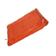 More details for orange net sacks with drawstring raschel bags mesh vegetables logs kindling new