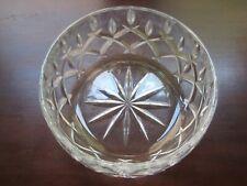 "Cut Glass bowl 8"" Round Deep cut glass punch bowl Large Glass serving basin"