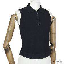 Button Polyester Sleeveless Jumpers & Cardigans for Women