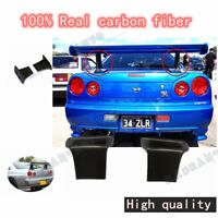 2PCS CARBON JUN HIGH BASE LEG STAND FOR NISSAN R34 GTR-STYLE REAR SPOILER