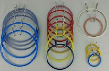 Embroidery Hoops Lot of 17 Spring Tension Round X Stitch Crewel Metal Plastic