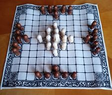 The Viking Game (Hnefatafl) - rare game - immaculate boxed set - linen & resin