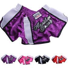 Muay Thai Boxeo Pantalones Cortos Poliéster Adulto/Niño Kick Boxing Cómodo