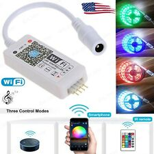 Smart WiFi LED RGB Light Strip Music Timer Controller For Alexa Google Home US