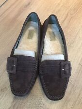 UGG  Ladies Brown Moccasin Shoes Size UK 6