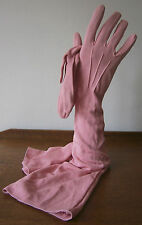 VINTAGE CORNELIA JAMES PINK ELBOW LENGTH GLOVES PEARL BUTTONS GOODWOOD WEDDING 7