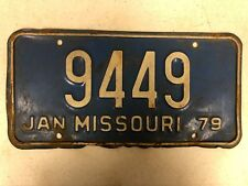 1979 MISSOURI License Plate 9449