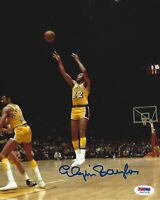 Elgin Baylor Signed Lakers Basketball 8x10 Photo PSA/DNA COA Picture Autograph