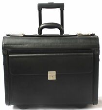 Pilot Case Wheeled Laptop Trolley Flight Briefcase Doctors Bag Cabin Luggage