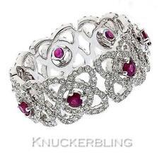 Diamond Wedding Natural White Gold Fine Gemstone Rings