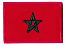 Ecusson patche Maroc drapeau Marocain thermocollant patch brodé
