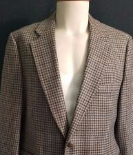 KILGOUR FRENCH STANBURY Vintage Houndstooth Plaid Large Wool Blazer 44S Short