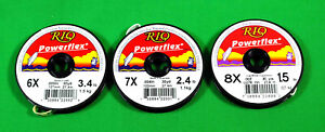 Rio  Powerflex  Tippet  3 Spools  NEW  Fly  Fishing  Line  Leader   30  yard  Sp