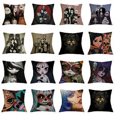 17''Skull Style Cushion Cover Throw Pillowcase Sofa Bed Car Waist Home Decor