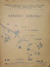 SPARTITO BIBLIOTECA MUSICALE LA TAVOLA ROTONDA ABBRILE ! ABBRILE ! BIDERI  -1906
