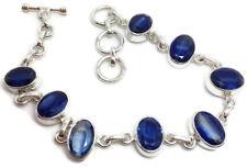 Kyanite Gemstone Faceted Solid Sterling Silver Bracelet, New, Actual One, UK #1