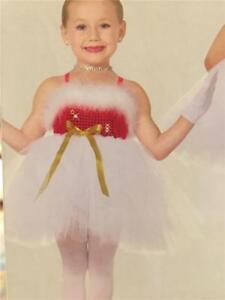 DANCE COSTUME  CHRISTMAS RED TAP BALLET TUTU POWDER PUFF