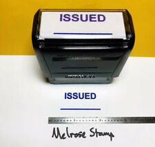 New Listingissued With Line Rubber Stamp Purple Ink Self Inking Ideal 4913