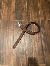 """Tony Lama Belt Brown Leather Belt 34"""" Western Sparke Buckle"""