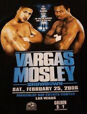Vtg,  Fernando Vargas Mosley 2006 boxing T-shirt Large 29×20 Inches