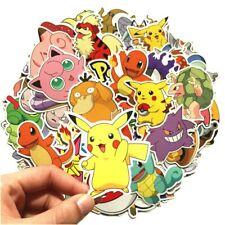 80pcs Pokemon G Pikachu Cartoon Stickers Skateboard Laptop Luggage Car Sticker