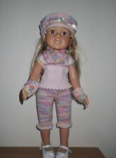 Hand Knitted Dolls Clothes for American Girl / Designafriend and similar dolls