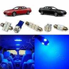8x Blue LED lights interior package kit for 1997-2001 Honda Prelude HL1B