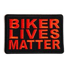 Embroidered Biker Lives Matter Orange on Black Sew or Iron on Patch Biker Patch