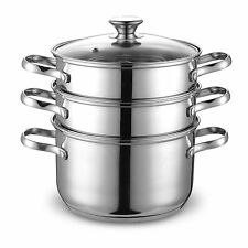 Cook N Home NC-00313 Double Boiler and Steamer Set, Stainless Steel , New, Free