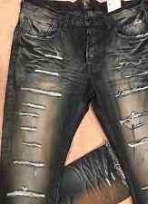PRPS GOODS CO DEMON Super Slashed Creased Destroyed SLIM Jeans 36 x 35 Orig $300