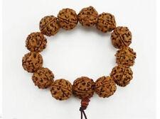 Huge Tibetan 12pcs 14mm Rudraksha Bodhi Seed Buddhism Prayer Beads Mala Bracelet