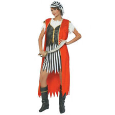 ADULT DELUXE LADIES PIRATE QUEEN FANCY DRESS COSTUME QUEEN OF THE SEAS OUTFIT