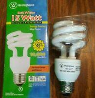 (2) Westinghouse Soft White Light Bulb 15 W  NEW!