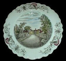 CROWN DUCAL Charming England TEWKESBURY 10 1/2 inch Plate c1950
