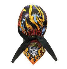 Native Indian Chief Skull Biker Headwrap Skull Cap Durag Sweatband Capsmith